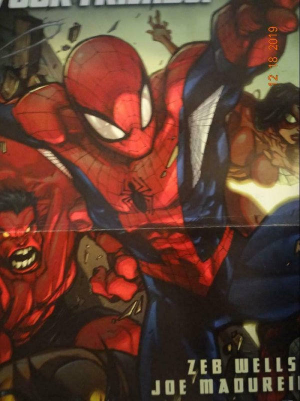 """Spider-Verse Double Side Avengers 10/""""x13/"""" PROMO POSTER  New!"""