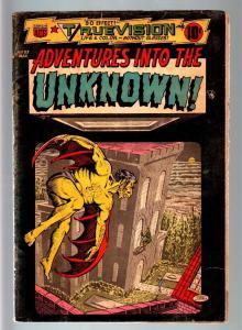 ADVENTURES INTO THE UNKNOWN #53-3 D-1954 PRE CODE HORROR-VAMPIRE-WEREWOLF-A VG