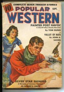 Popular Western 9/1940-Thrilling-Blue Steele story by Tom Gunn-G