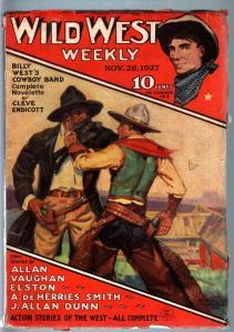 WILD WEST WEEKLY-11/26/1927-PULP-BILLY WEST VG/FN