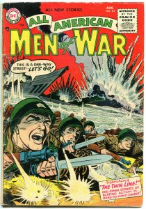 ALL AMERICAN MEN of WAR #24, VG, 1952, Golden Age, The Thin Line, more in store
