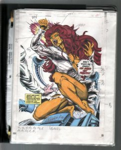 New Titans #101 1993-DC-hand colored guide by Adrienne Roy-23 pages-FN