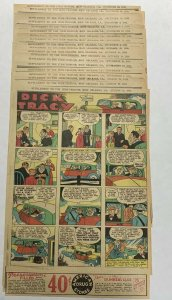 Dick Tracy Newspaper Comics 1934 42 Total Pages Are In Great Shape Some Tape