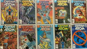 Captain Atom lot from:#1-57 + Annuals 20 different books 8.0 VF (1987 to 1991)