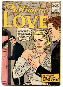 Falling in Love #8 comic book 1956- DC Romance- Golden Age G/VG