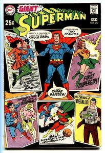 SUPERMAN #217 comic book-1969 DC 80 page giant-Supergirl VF-
