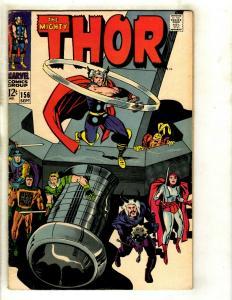 Thor # 156 VF Marvel Comic Book Loki Odin Sif Avengers Hulk Iron Man GK4
