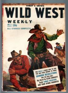 WILD WEST WEEKLY 1/2/1943-WESTERN PULP-TOMMY ROCKFORD VG