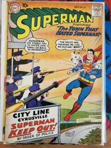 Superman #130 (DC,1959) Condition VG