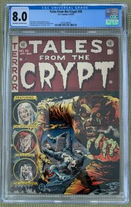 Tales from the Crypt #35 (1953) CGC 8.0 -- Werewolf cover by Jack Davis; Kamen
