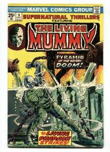 SUPERNATURAL THRILLERS #9-LIVING MUMMY-MARVEL HORROR-VF