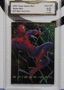 2002 Topps Spider-Man Movie Web Tech Foil Card #F3 - Graded Gem Mint 10