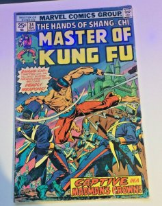 Master of Kung Fu #34 1975 VG/FN Captive In A Madman's Crown