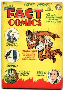 Real Fact Comics #1 1946 DC PARACHUTE cover HOUDINI FN/VF