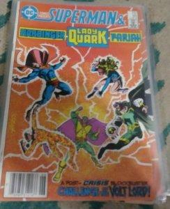 dc comics presents # 94 1986 DC SUPERMAN +HARBINGER PARIAH LADY QUARK CRISIS