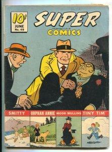 Super Comics #49 1942-Dell- violent Dick Tracy cover-Little Orphan Annie-Moon...