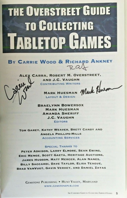 Overstreet Guide to Games; Signed 3x! Only 100!
