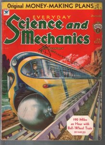 Everyday Science & Mechanics 12/1933-Frank R Paul-invisibility-VG