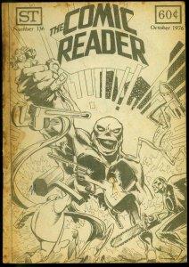 The Comic Reader Fanzine #136 1976- Metal Men cover FR/G
