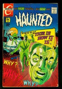 Haunted #5 1972- Charlton Horror Comics- Steve Ditko- FAIR