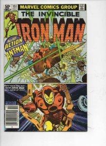IRON MAN #151, FN Tony Stark, Ant-Man Lang 1968 1981, more IM in store, Marvel