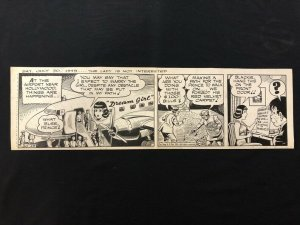 Ella Cinders Original Newspaper Comic Art July 30 1949-Charlie Plumb & Fred Fox