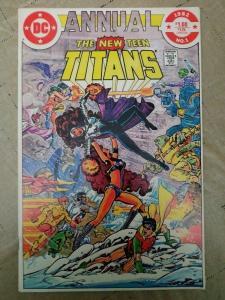 NEW TEEN TITANS ANNUAL #1  George Perez art, DC Comics (1982) Omega Men app