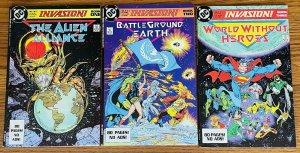 INVASION DC Comics COMPLETE SET BOOKS 1 2 3 1988 TODD MCFARLANE Alien Aliance