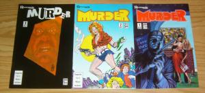 Murder #1-3 VF/NM complete series - edgar allan poe - wally wood - ditko & toth