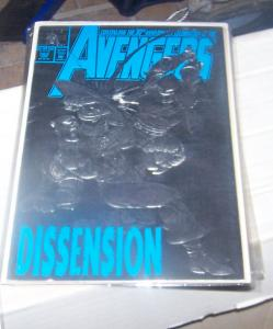 Avengers # 363 1993 Marvel  SILVER FOIL COVER CAP VS BLACK KNIGHT