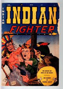 INDIAN FIGHTER #5-DOUG WILDEY COVER-KIT CARSON-APACHE KID VG-1950-YOUT VG