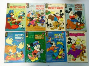 Silver + Bronze Age Gold Key Mickey Mouse Comic Lot, 27 Different, Very Good