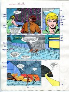 Justice Machine #24 Page #26 1988 Original Color Guide