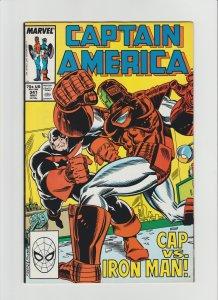 Captain America #341 VF (1988, Marvel) 1st Coachwhip & Battlestar! HOT KEY!!