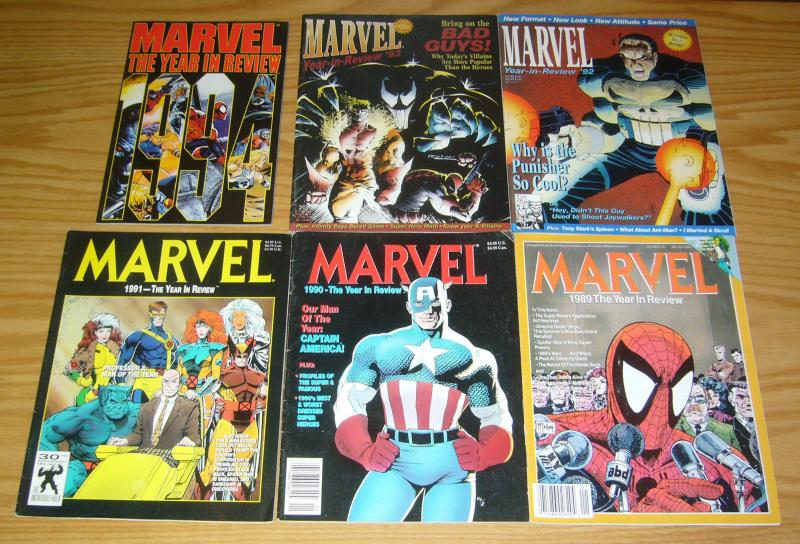 Marvel: the Year in Review #1-6 FN complete series - sam kieth - mcfarlane