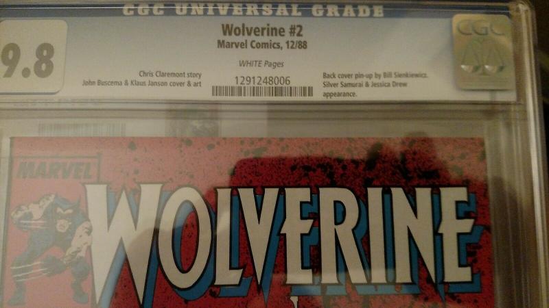 Wolverine #2 (Dec 1988, Marvel) CGC 9.8