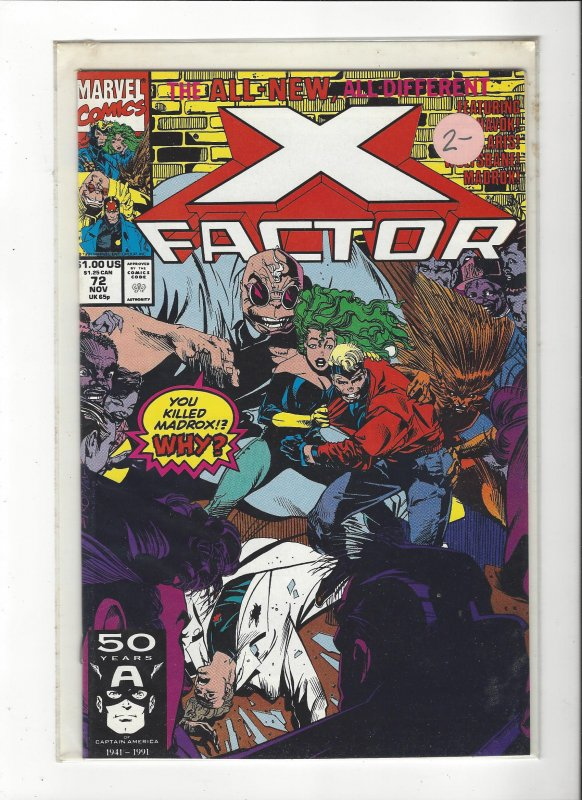 X-Factor #72 All New, All Different Peter David NM