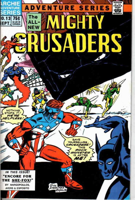 Mighty Crusaders (2nd Series) #13 VF/NM; Red Circle | save on shipping - details