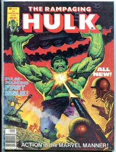 Rampaging Hulk #1 1977- Marvel Magazine- Bloodstone FN