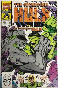 INCREDIBLE HULK#376 VF/NM 1990 MARVEL COMICS