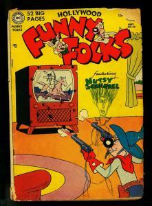 Hollywood Funny Folks #38 1951- Nutsy Squirrel- DC Funny Animal- FAIR