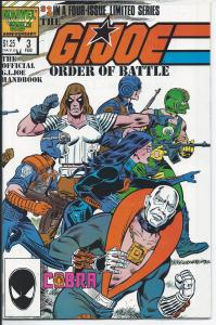 G. I. Joe  #3 Order of Battle Feb, 1987 - Copper Age - (NM)