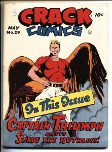 CRACK COMICS #29-QUALITY-1943-Captain Triumph-Golden-Age
