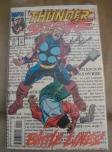 MARVEL COMICS THUNDERSTRIKE #11 SIGNED BY COMIC LEGEND KEITH POLLARD W/COA