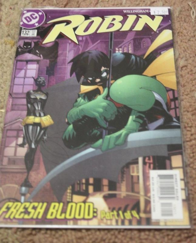 Robin comic # 132 (Jan 2005, DC) batgirl fresh blood pt 1 tim drake