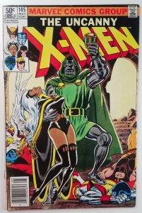 The Uncanny X-Men #145 - Doctor Doom APPEARANCE - Newsstand - VF - Marvel 1981