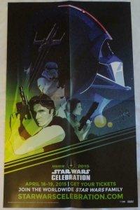 STAR WARS CELEBRATION Promo Poster , 15 x 24, 2015, LUCAS FILMS,  Unused 043