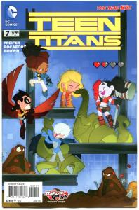 TEEN TITANS #7, VF-, Harley Quinn, 2014, New 52, Variant, more HQ in store