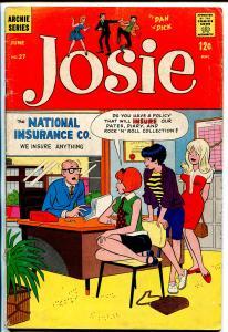Josie #27 1967-Archie-teen humor-Dan DeCarlo-VG