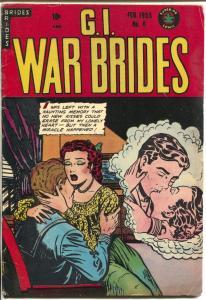G.I.War Brides #6 1955-Superior-pre-code-lingerie-headlights-spicy art-VG/FN